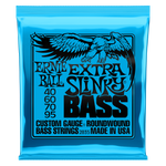 Ernie Ball Extra Slinky Nickel Wound Electric Bass String, 40-95 Gauge