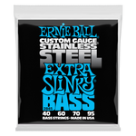 Ernie Ball Extra Slinky Stainless Steel Electric Bass String, 40-95 Gauge