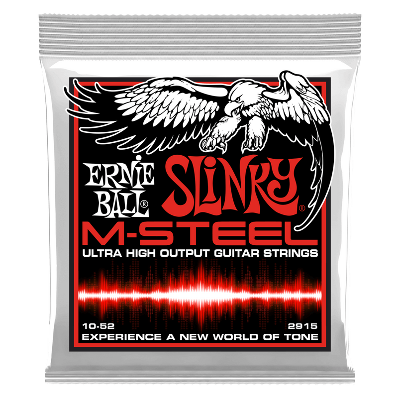 Ernie Ball Skinny Top Heavy Bottom Slinky M-Steel Electric Guitar Strings.
