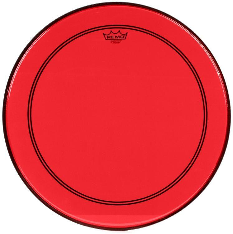 Remo Powerstroke P3 Bass Colortone Red 22 Inch.