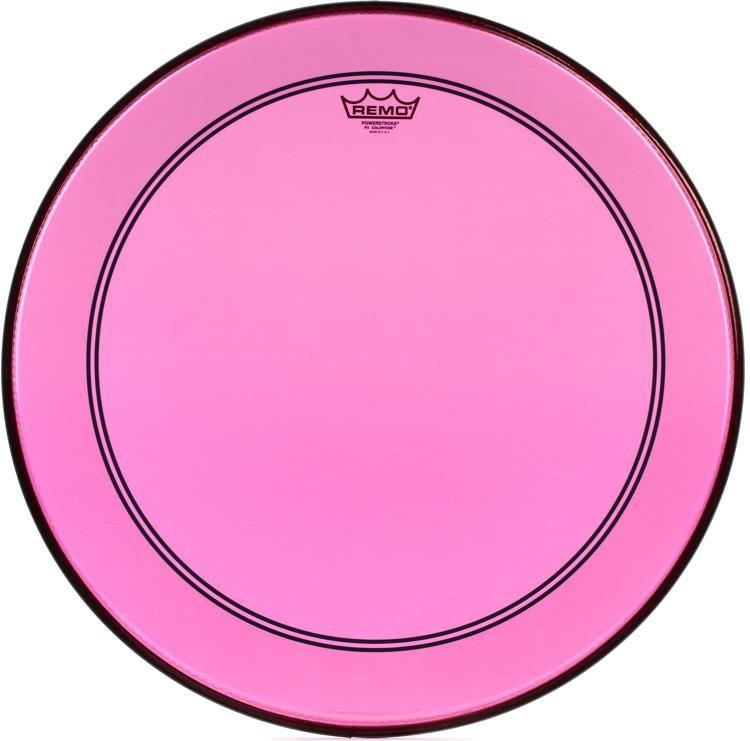 Remo Powerstroke P3 Bass Colortone Pink 22 Inch.