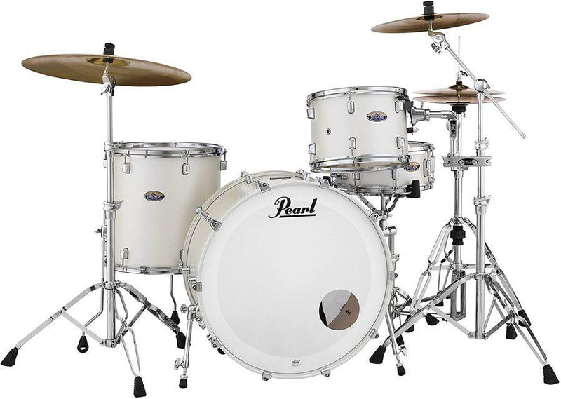 "Pearl Decade Maple 24"" 3pc Shell Pack in White Satin Pearl."