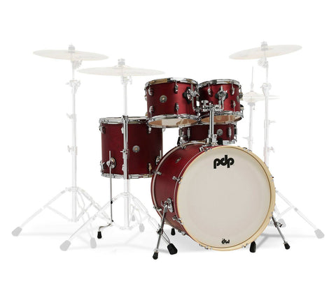 PDP Spectrum 5 Piece Shell Cherry Stain w/ PDP 800 Hardware Pack
