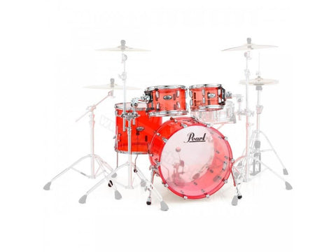Pearl Crystal Beat 4 Piece Shell Pack Ruby Red.