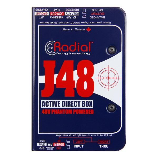 Radial J48 Phantom Powered Active Direct Box.
