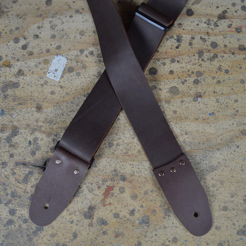 Guitar Strap Soft Slide Adj Brown.