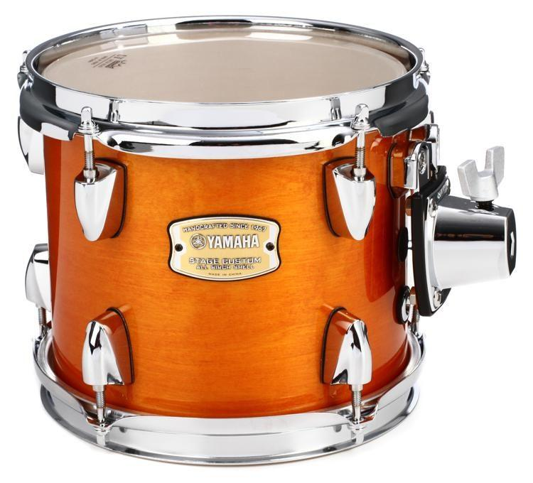 "Yamaha Stage Custom Birch Mounted Tom - 8"" x 7"" Honey Amber."