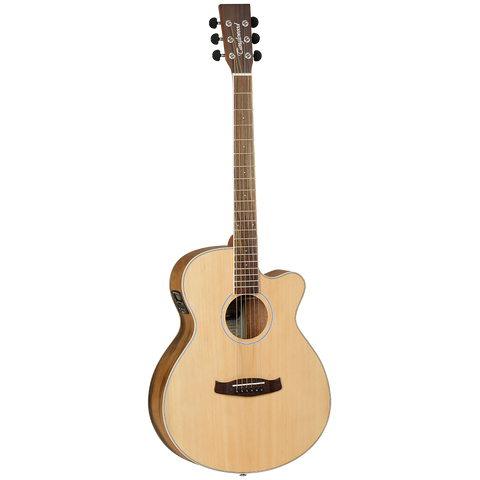 Tanglewood TDBTSFCEPW Discovery Exotic Superfolk C/E Pacific Walnut