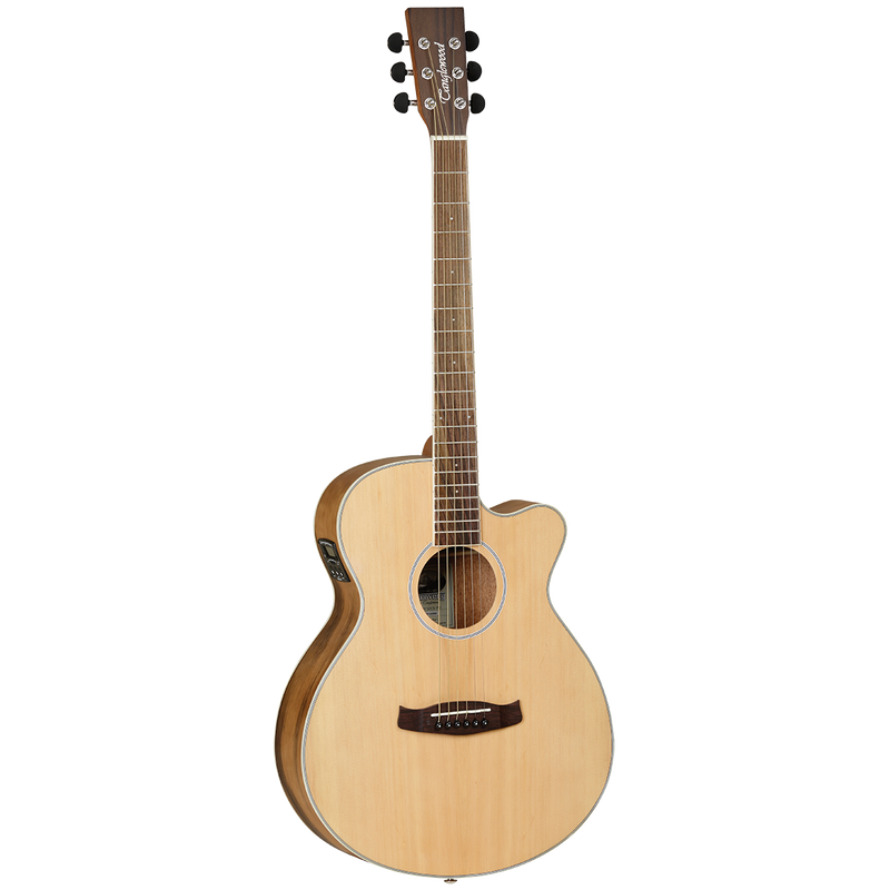 Tanglewood TDBTSFCEPW Discovery Exotic Superfolk C/E Pacific Walnut.
