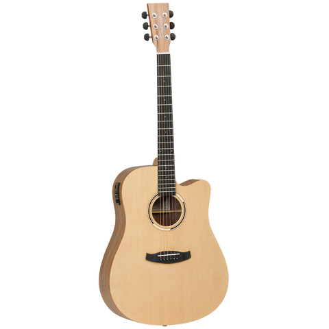 Tanglewood TDBTDCEHR Discovery Exotic Dreadnought C/E Hawaiian Rainwood