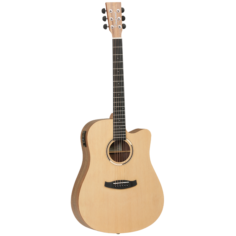 Tanglewood TDBTDCEHR Discovery Exotic Dreadnought C/E Hawaiian Rainwood.