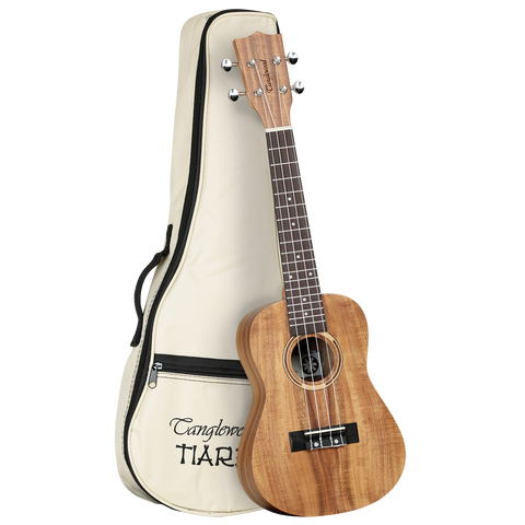 Tanglewood TWT8 Tiare Concert Ukulele All Koa with Bag.