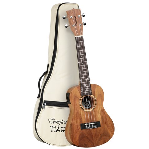 Tanglewood TWT8E Tiare Concert Ukulele w/ Pickup All Koa with Bag