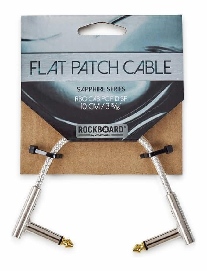 RockBoard Flat Patch Cable Sapphire 10cm.