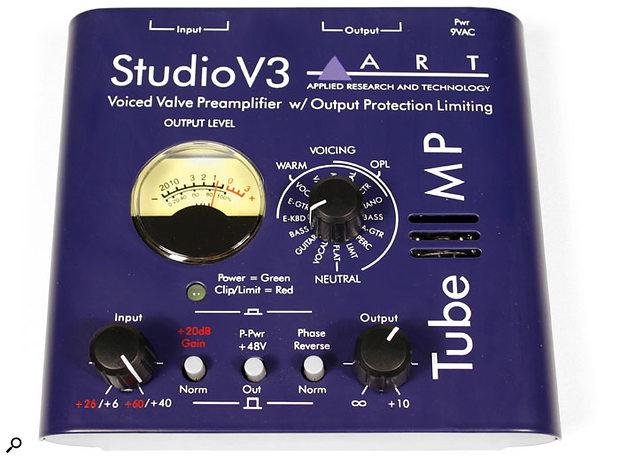ART TUBE MP Studio V3 Tube Preamp with Variable Calve Voicing and Output Protection Limiting.