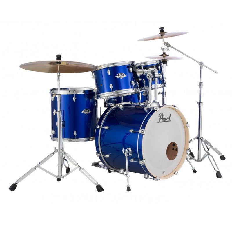 "Pearl Export EXX 22"" Fusion Drum Kit W/Hardware And Cymbals - High Voltage Blue."