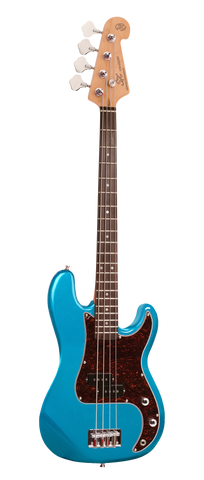Essex 3/4 Short Scale Vintage Bass Guitar Lake Placid Blue.