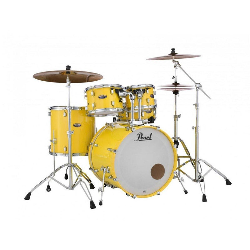 "Pearl Decade Maple 22"" Fusion Plus Drum Kit W/Hardware - Solid Yellow"