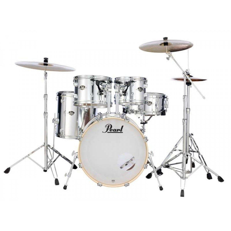 Pearl Export Fusion Plus 5-Piece Drum Kit Package Mirror Chrome - Five Star Music