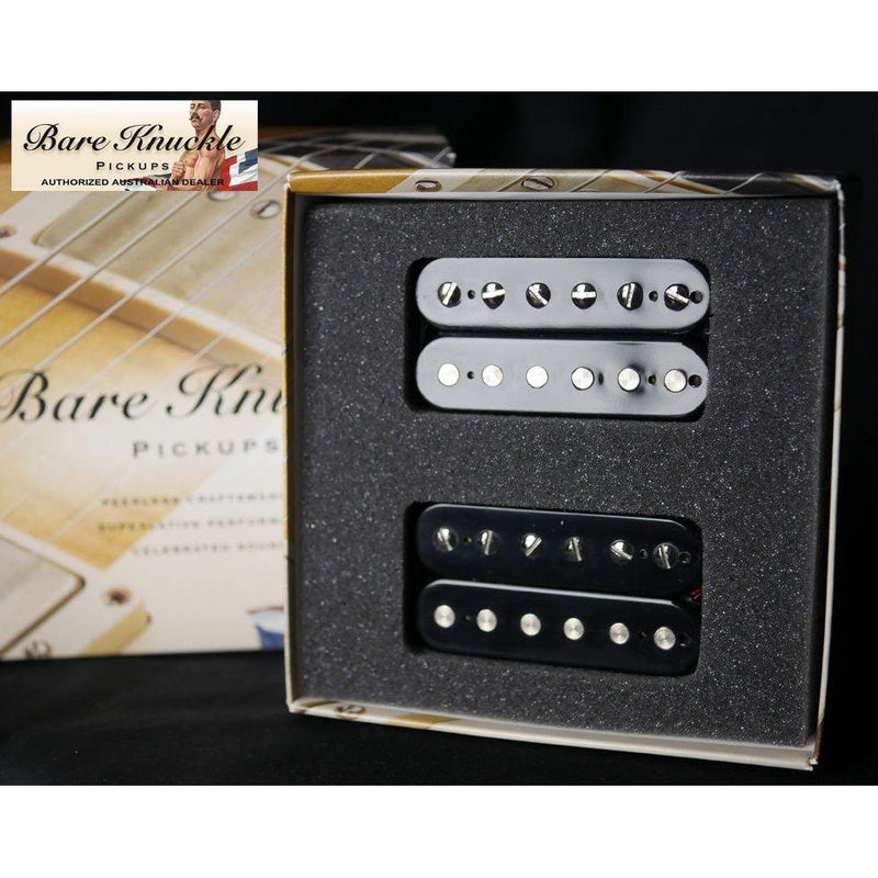 Bare Knuckle True Grit 6 String Humbucker 50mm Set Open Black.