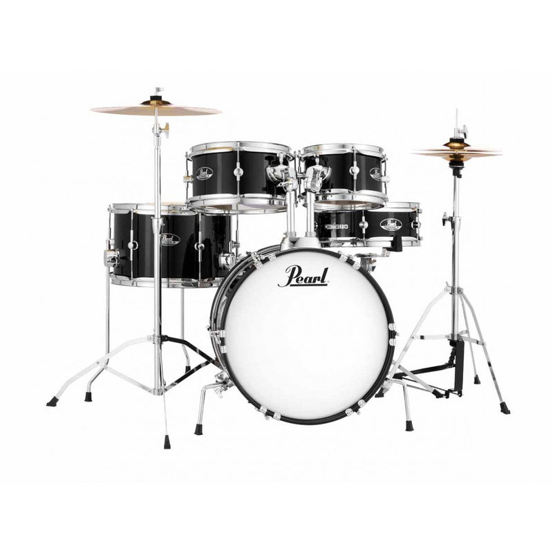 Pearl Roadshow Junior Drum Kit with Cymbals and Hardware - Jet Black.