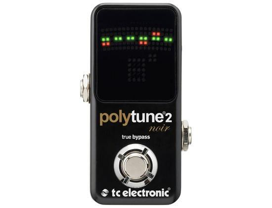 TC Electronic Mini Format Polyphonic and Chromatic Guitar Tuner Black.