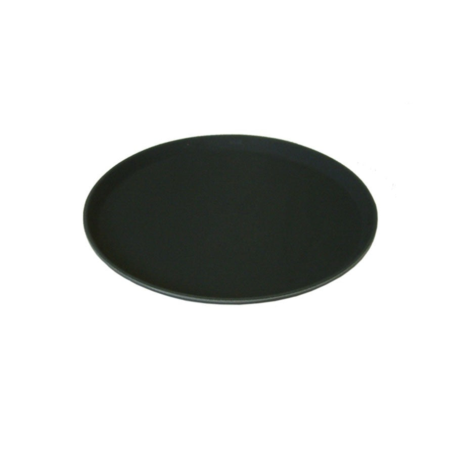 Bar Tray Round Black Non-Slip  11""