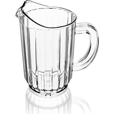Beer Pitcher 60oz PC , Clear - BartechCo