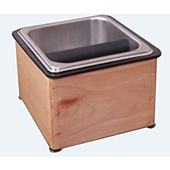 Counter Top Knock Box With Wooden Base