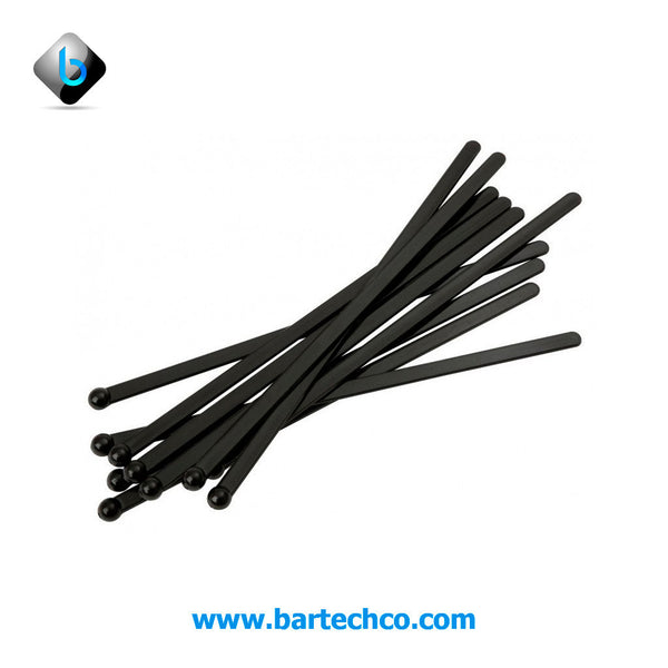 "FLAT BALL STIRRERS BLACK 6"" - BartechCo"