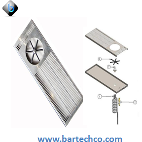 Dispense Rinser with Side Spray, Stainless Steel - BartechCo