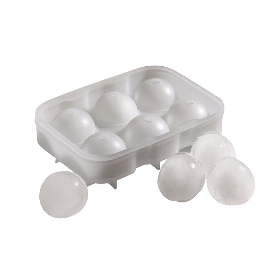 SILICONE ICE BALL MOULD 6 CAVITY