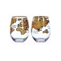 Mixology Vintage Globe Glass Gold 2pcs/Pack