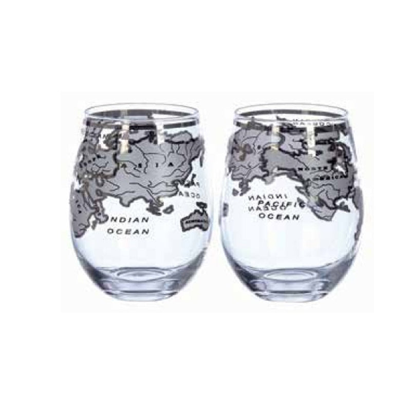 Mixology Vintage Globe Glass Silver 2pcs/Pack