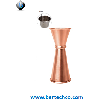 MEZCLAR BANDED JIGGER COPPER PLATED 25/35/50ML - BartechCo