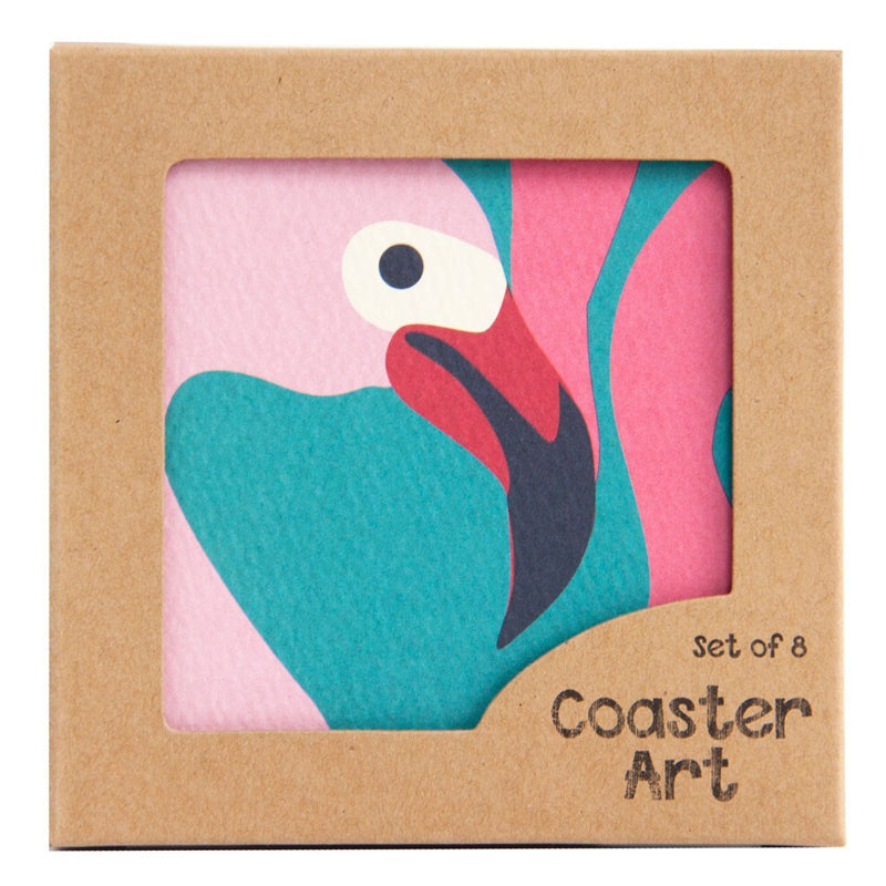 Flamingo Design Drinks Coasters 8pcs/pack - BartechCo