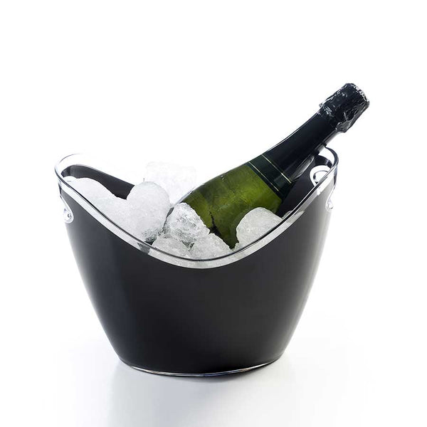 Black Acrylic Ice Bucket