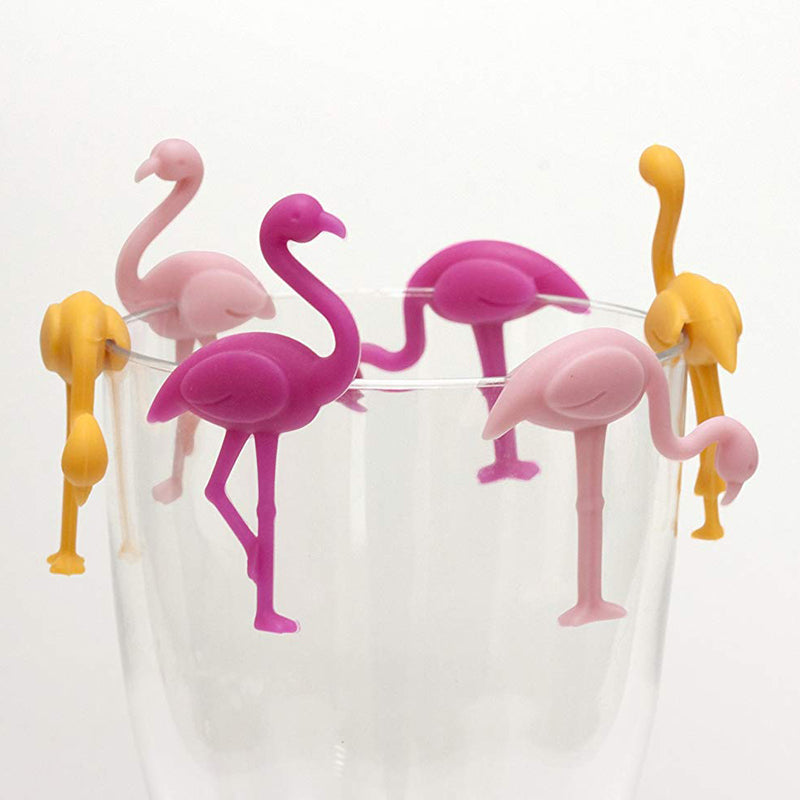 Flamingo Silicone Glass Markers 6pcs/Pack