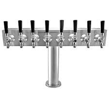 "Eight Faucet T Tower 4"" Column S Steel - BartechCo"
