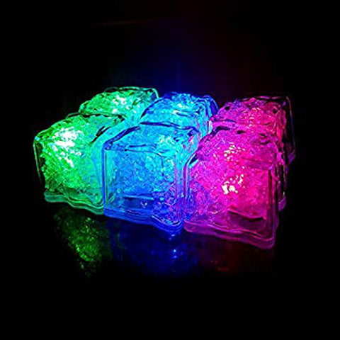 Mixology Flashing Ice Cubes 'Drink In The Dark' Pack of 6
