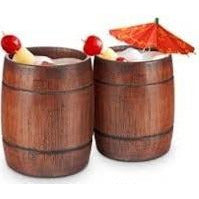 Wooden Barrel Glasses 2pk - BartechCo