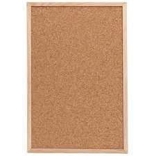 Framed Cork Notice Board Natural Pine Finish L - BartechCo