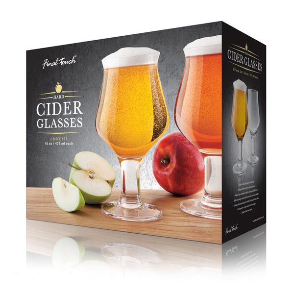 Final Touch Cider Glasses Set of 2