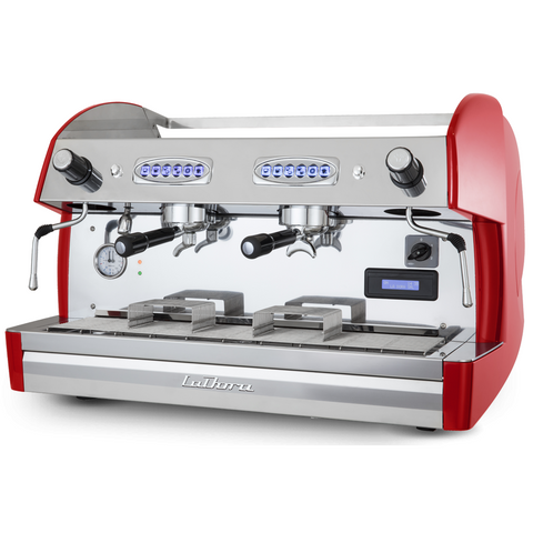 Espresso Machine Automatic 2 Group-La Dora-Gran Paradiso GP 4061-Red - BartechCo