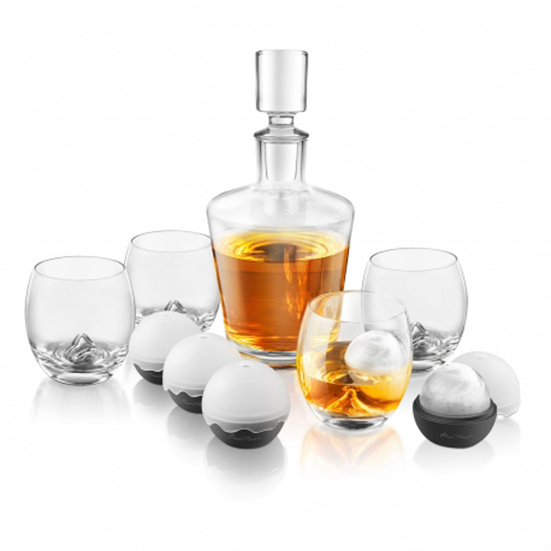 On the Rocks Decanter Set of 10 - BartechCo