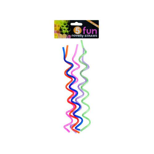 Fun Swirl Novelty Straws Set ( Case of 72 ) - BartechCo