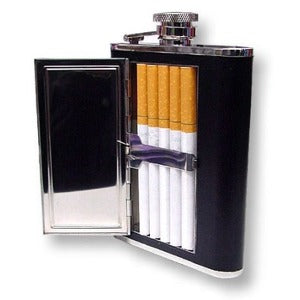 HIP Flask With Cigar Case