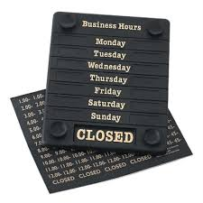 Hours of Business Sign - BartechCo