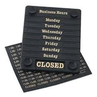 Hours of Business Sign