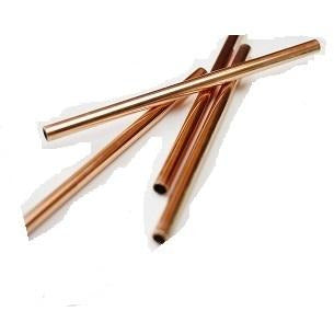 Metal Straws 5'' Copper 4pc